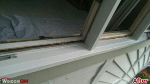 rotted window sash replace (after)