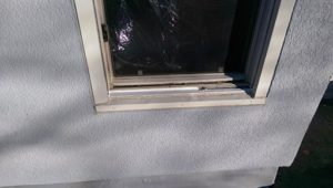 rotted window sash replace (before)