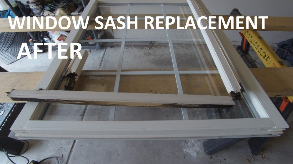 Rotten sash replacement (after)