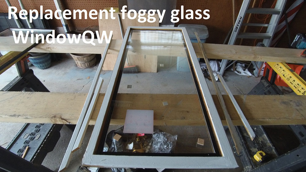 Replacement foggy glass (after)