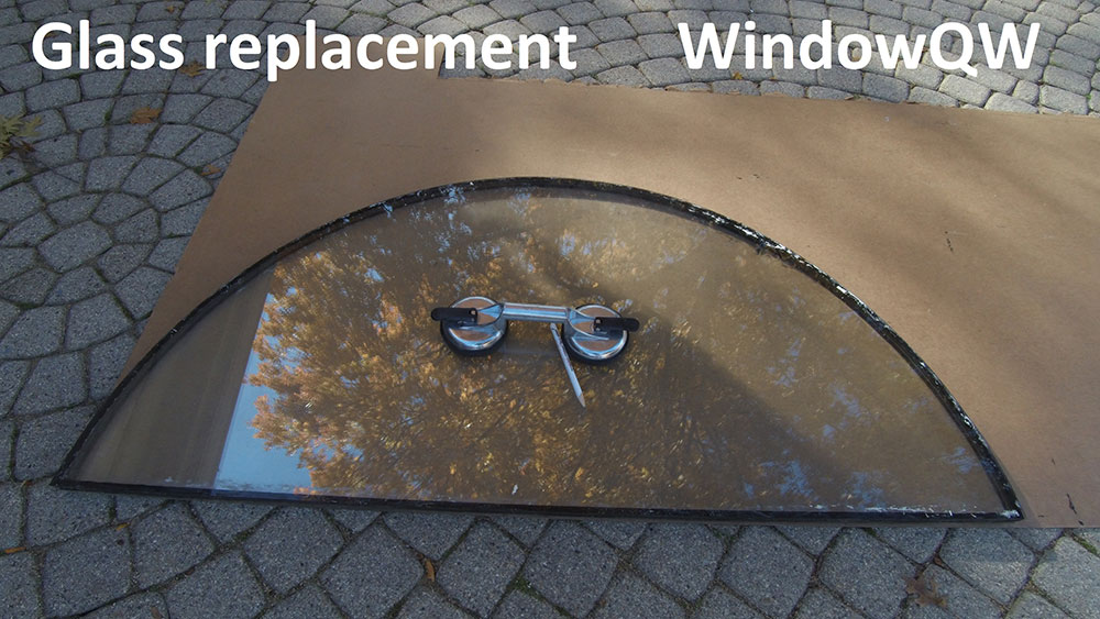 window glass replace (before)