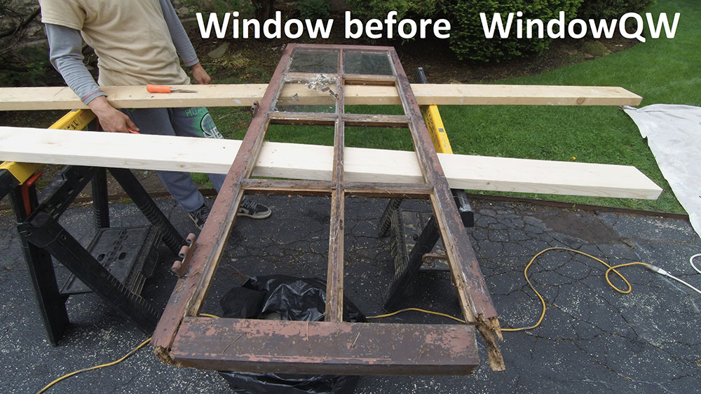Rotted window replacement (before)