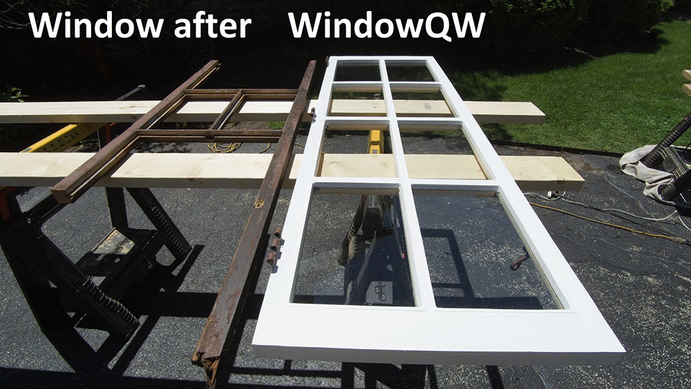 Rotted window replacement (after)